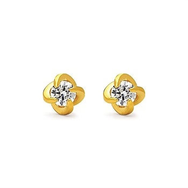 Picture of 1 Ctw. Twisted Diamond Studs