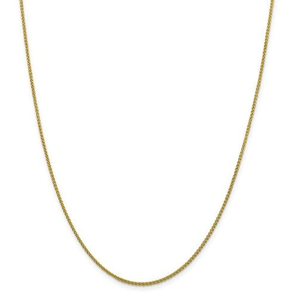 """Picture of 10KY DIAMOND-CUT WHEAT CHAIN 16"""""""