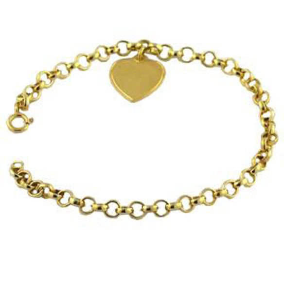 Picture of 14K GOLD FILLED BRACELET WITH HEART CHARM