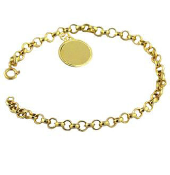 Picture of 14K GOLD FILLED BRACELET WITH ROUND CHARM