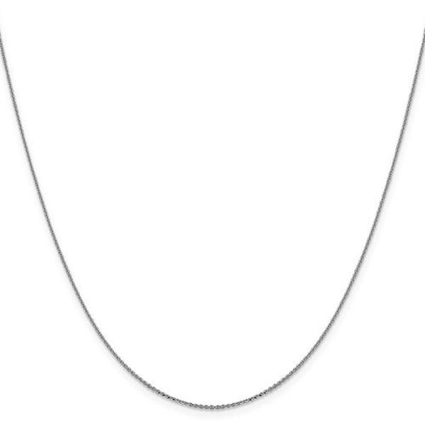 """Picture of 20"""" 14kt White Gold Cable Chain"""