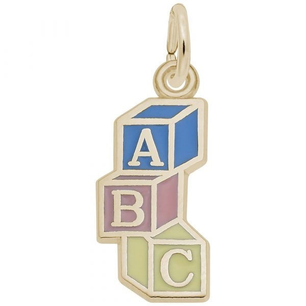 Picture of ABC BLOCKS CHARM IN GOLD PLATE