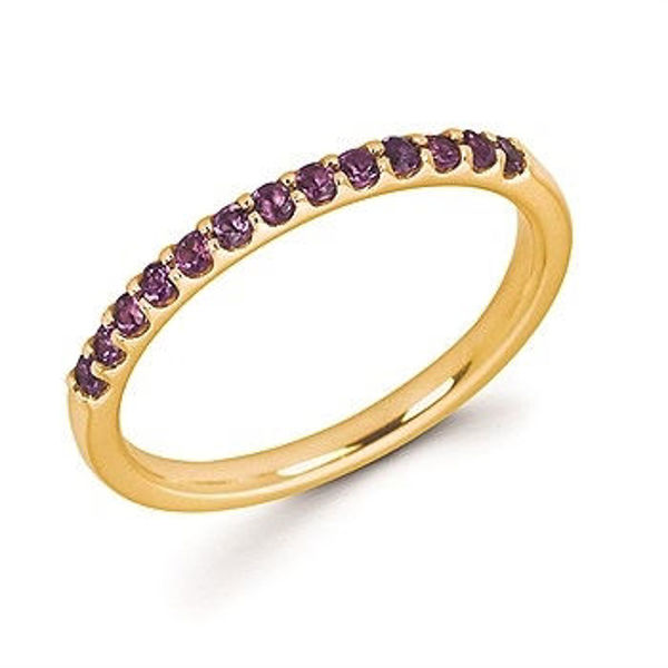 Picture of Amethyst Stackable Band in WHITE GOLD