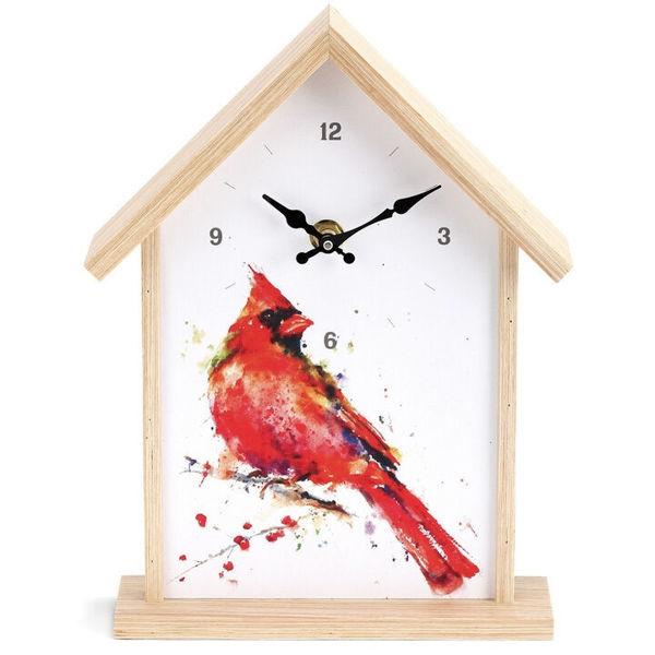Picture of Big Sky Carvers Cardinal Birdhouse Clock