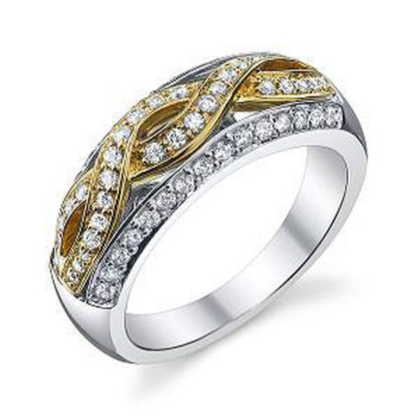 Picture of Braided Diamond Ring