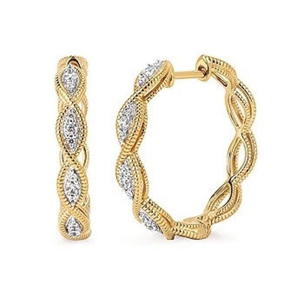 Picture of Diamond Braided Hoop Earrings
