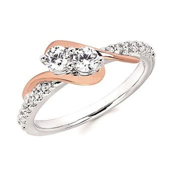 Picture of Diamond Two-Stone Fashion Ring