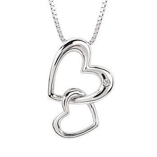 Picture of Diva Diamonds® Double Hearts Pendant