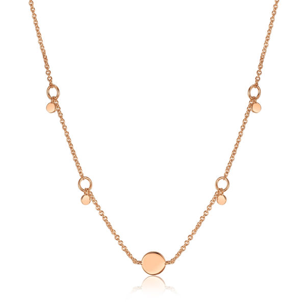 Picture of Geometry Drop Discs Necklace