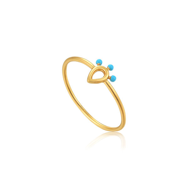 Picture of Gold over Sterling Silver Dotted Raindrop Ring