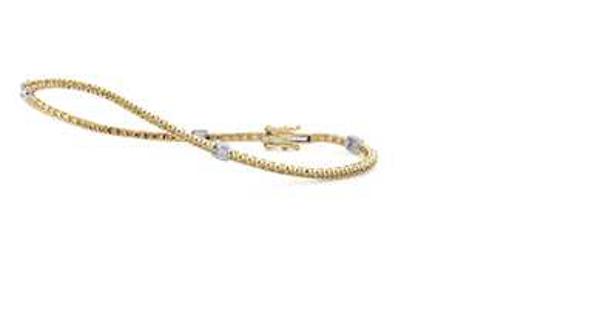 Picture of Golden & White Ice Bracelet