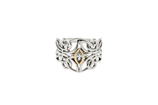Picture of Guardian Angel  with Blue Topaz Ring
