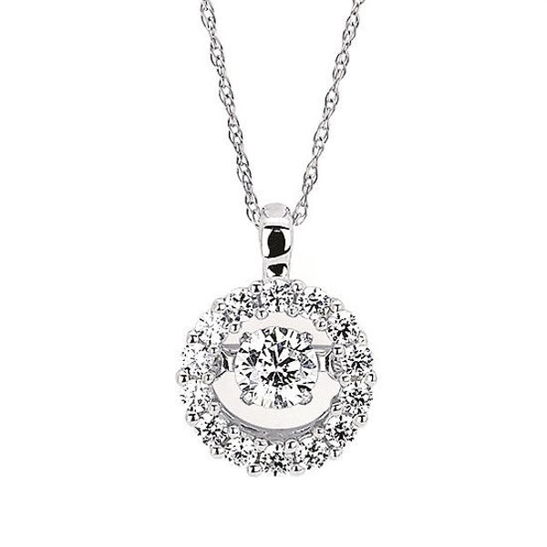 Picture of Halo Shimmering Diamond Necklace
