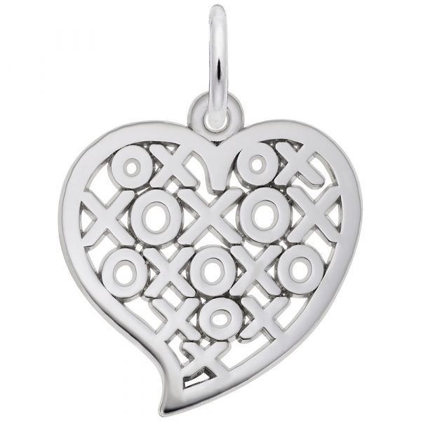 Picture of Hugs & Kisses Heart Charm