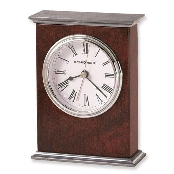 Picture of Kentwood Rosewood And Nickel Finish Quartz Alarm Clock