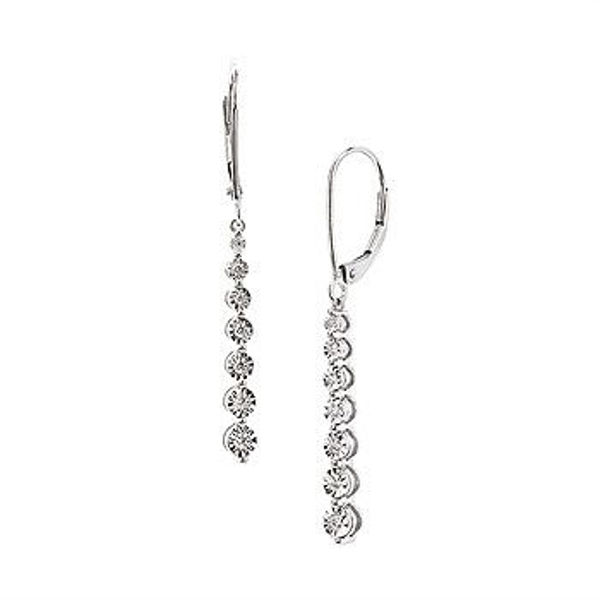 Picture of Line Diamond Earrings