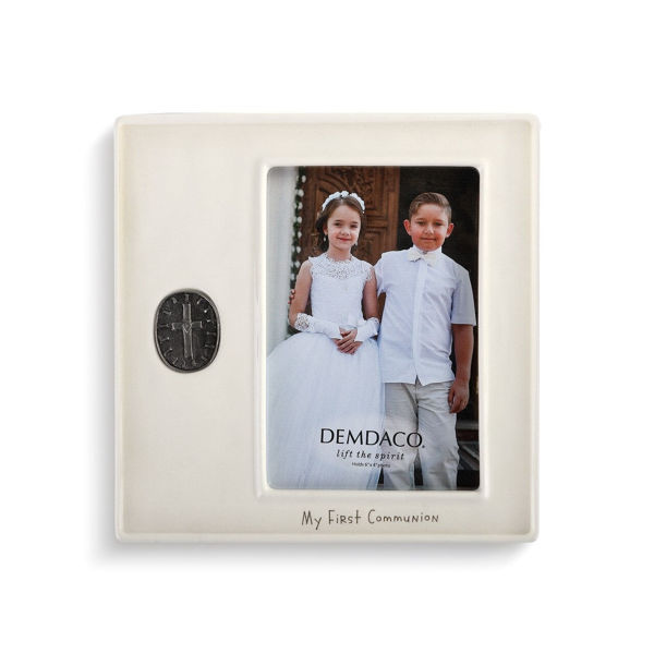 Picture of My First Communion Medallion Frame