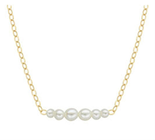 Picture of Natural Pearl Starter Necklace With Six Pearl