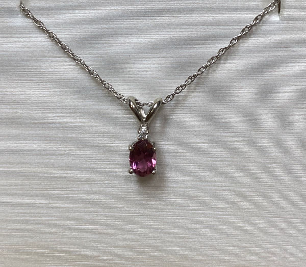 Picture of PINK TOURMALINE & DIAMOND NECKLACE