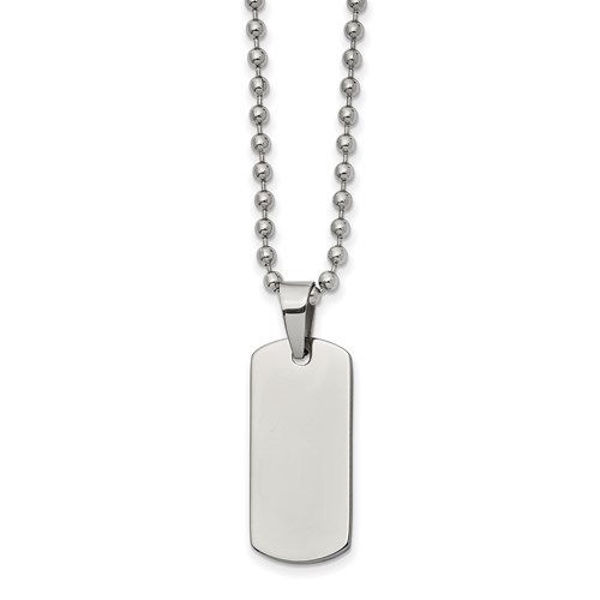 """Picture of Reversible Dog Tag 22"""" Necklace"""