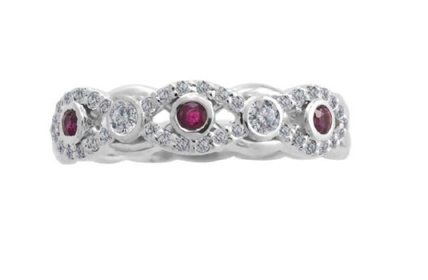 Picture of Ruby & Diamond Anniversary Ring