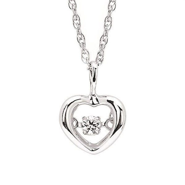 Picture of Shimmering Diamond Heart Pendant