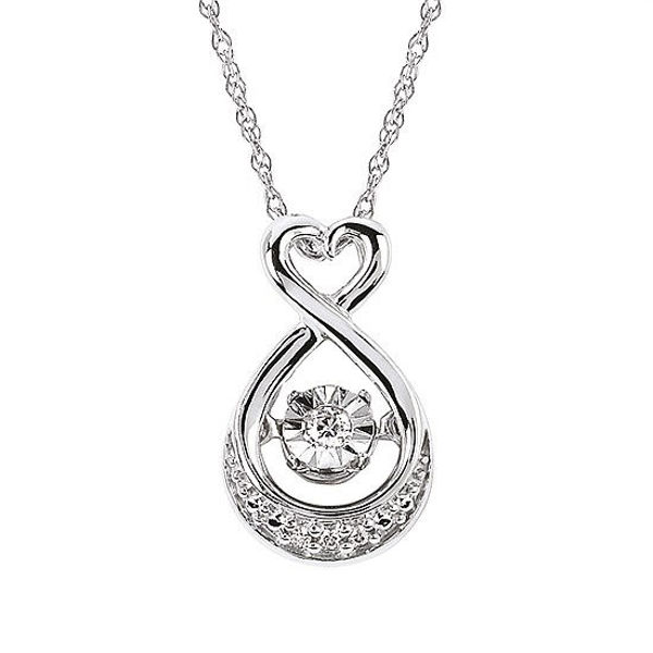 Picture of Shimmering Diamonds® Heart Drop Pendant