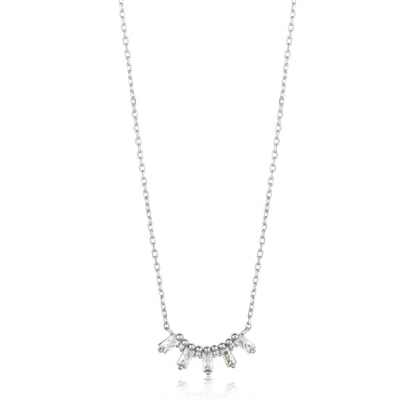 Picture of Silver Glow Solid Bar Necklace