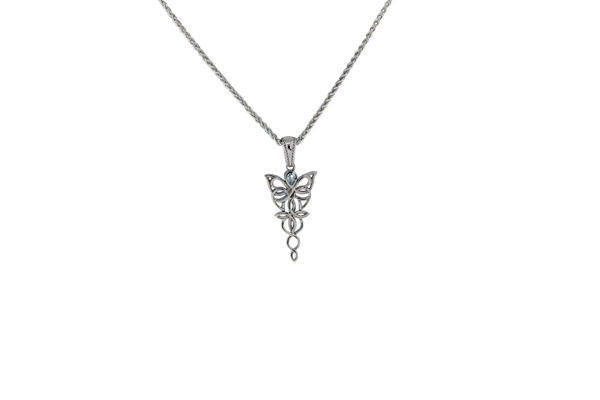 Picture of Sky Blue Topaz Petite Butterfly Necklace