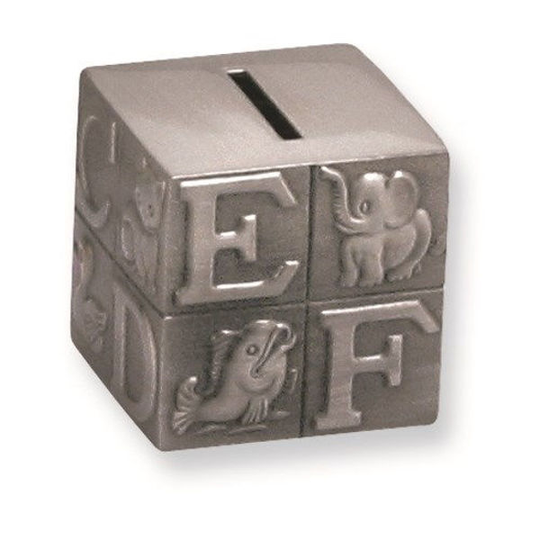 Picture of SMALL BLOCK BANK PEWTER