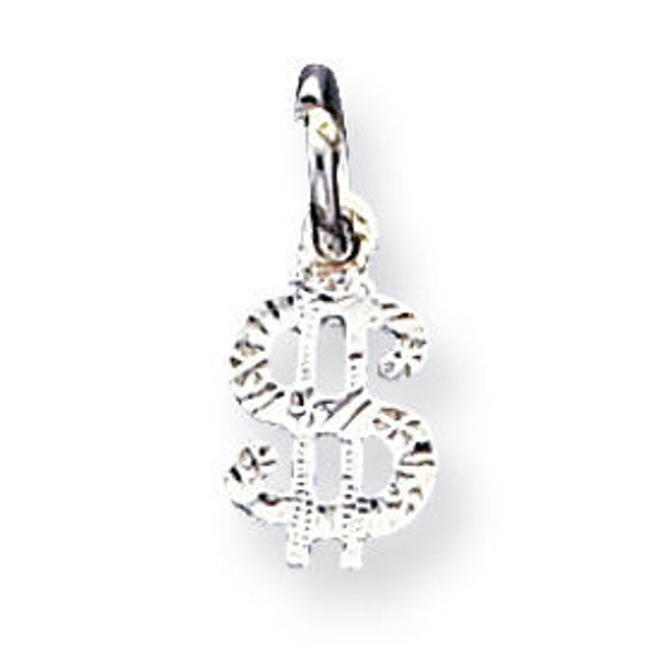 Picture of Sterling Silver Dollar Sign Charm