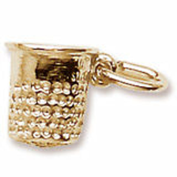 Picture of STERLING SILVER THIMBLE CHARM