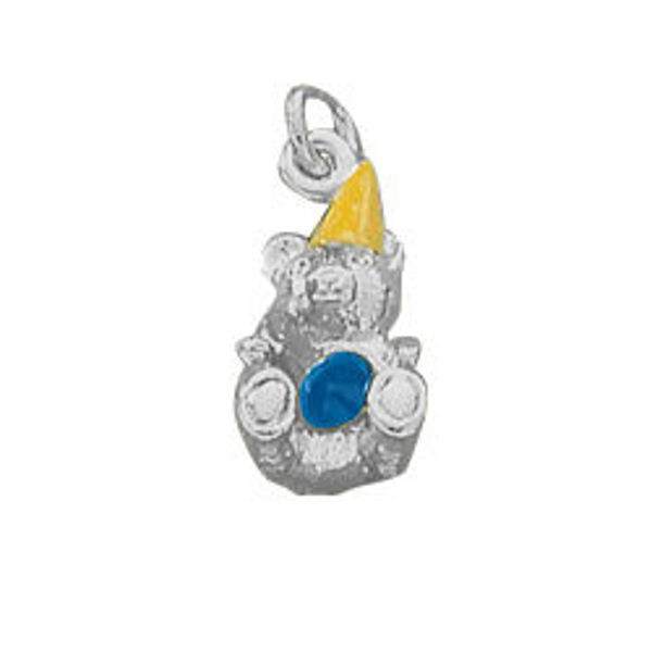 Picture of Sterling Silver, Party Bear Charm
