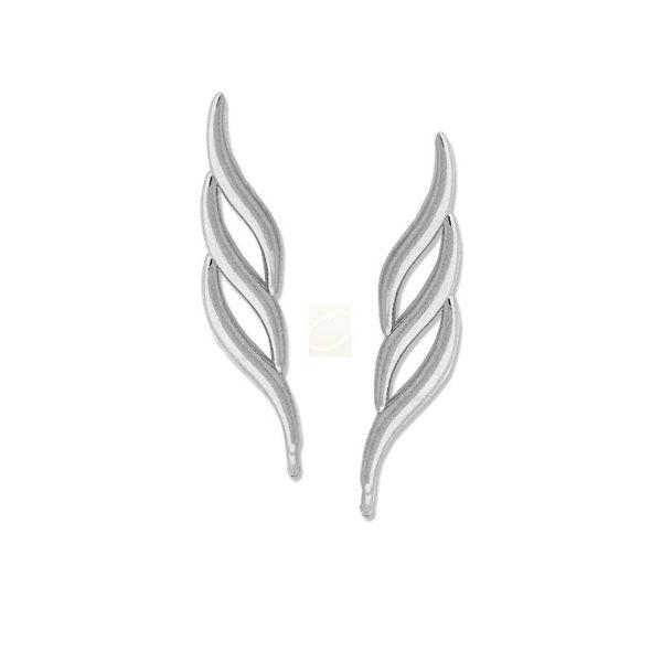 Picture of Triple Curves Ear Pin Earrings