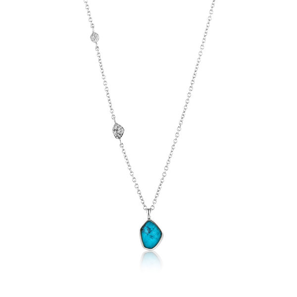 Picture of Turquoise Pendant Silver Necklace
