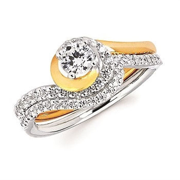 Picture of Waves of Love Matching Wedding Band