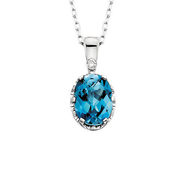 Picture of Royal Blue Topaz Necklace
