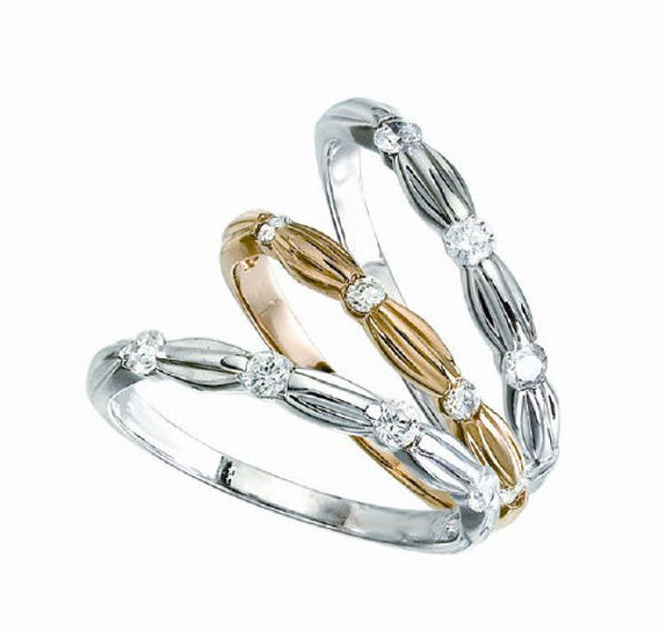 Picture of 10KT 0.32TW Bamboo Ring