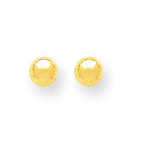 Picture of 14kt Polished 5mm Ball Post Earrings