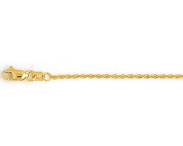 """Picture of 20"""" 10kt Yellow Gold Rope Chain"""