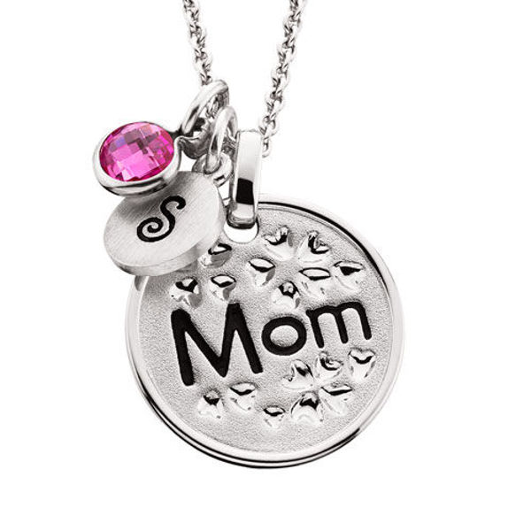 """Picture of Floral """"MOM"""" Pendant"""