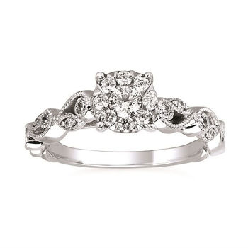 Picture of i Cherish™ Floral Diamond Engagement Ring