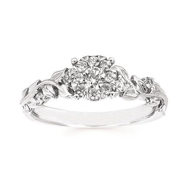 Picture of i Cherish™ Vine Engagement Ring