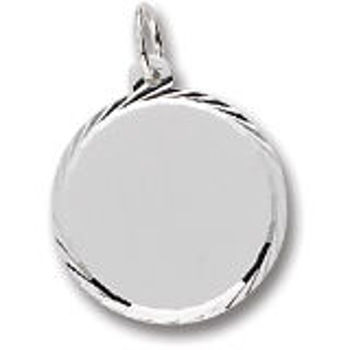 Picture of ROUND DISC DIAMOND CUT CHARM