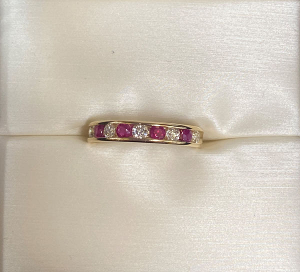 Picture of Ruby and Diamond Anniversary Ring