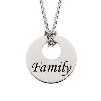 Picture of Silver Round Family Pendant
