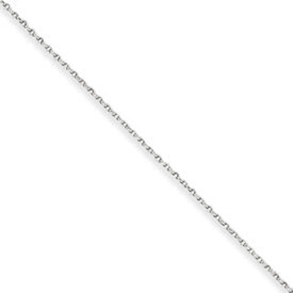 """Picture of Sterling Silver 1.25mm Cable Chain 16"""""""