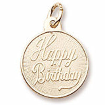 Picture of Sterling Silver HAPPY BIRTHDAY DISC