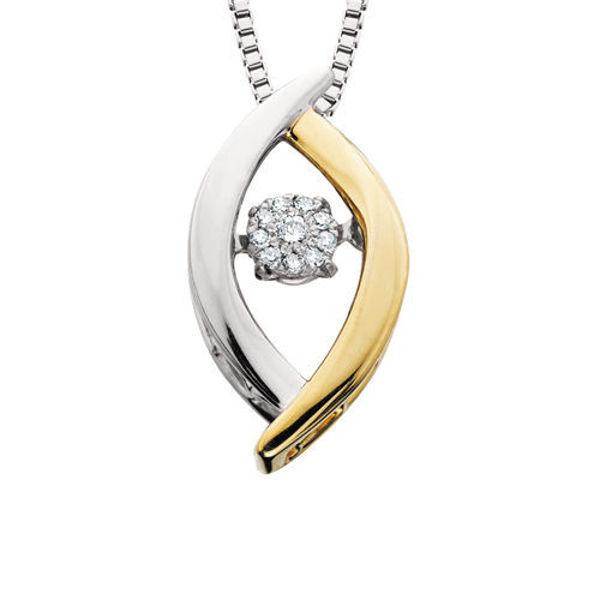 Picture of Diamond Dancer Leaf Necklace