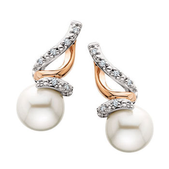 Picture of Two-Tone Pearl Earrings